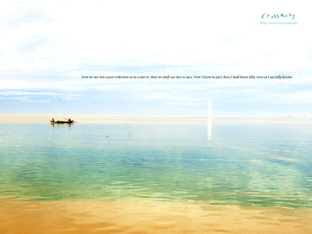1 Corinthians 13:12 – The Lake of Mirrors christian wallpaper free download. Use on PC, Mac, Android, iPhone or any device you like.