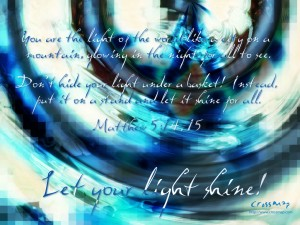 Matthew 5:14-15 – Let Your Light Shine Wallpaper