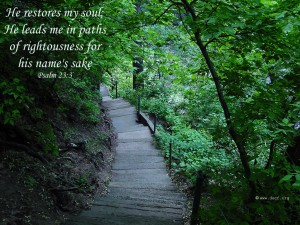 Psalm 23:3 – He Restores My Soul Wallpaper