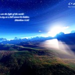 Matthew 5:14 – The Light of the world Wallpaper Christian Background