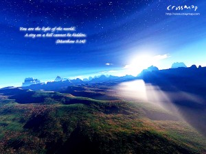 Matthew 5:14 – The Light of the world Wallpaper