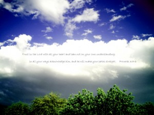 Proverbs 3:5-6 – Wisdom Wallpaper