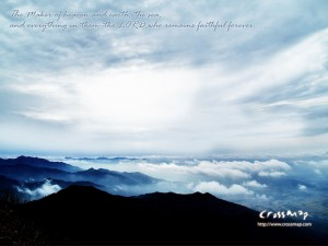 Psalm 146:6 – The Maker of heaven and earth Wallpaper