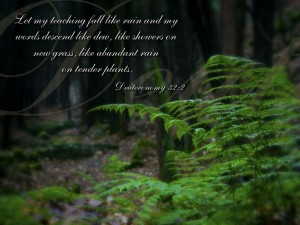 Deuteronomy 32:2 – Mighty God Wallpaper