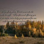 Hebrews 10:5-6 – Offering Wallpaper Christian Background