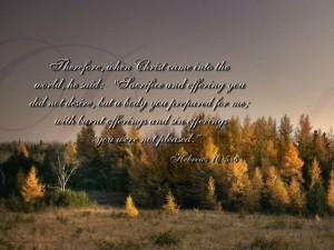 Hebrews 10:5-6 – Offering Wallpaper