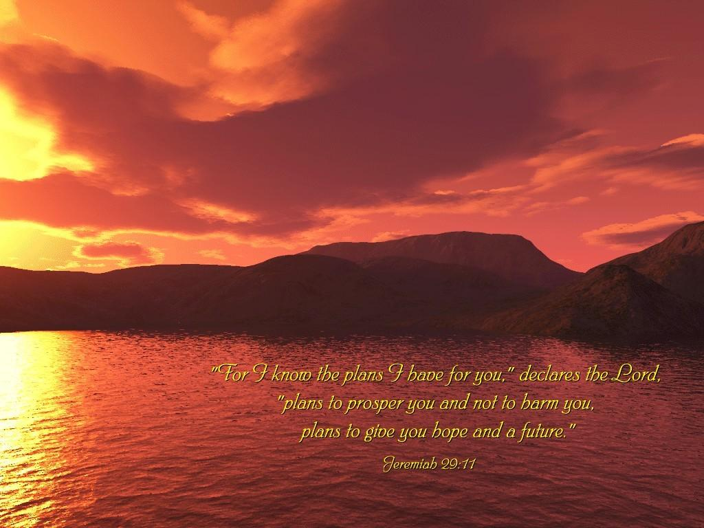 Jeremiah 29:11 – God's Plan christian wallpaper free download. Use on PC, Mac, Android, iPhone or any device you like.