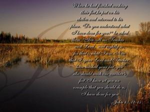 John 13:12-15 – Teacher And Lord Wallpaper