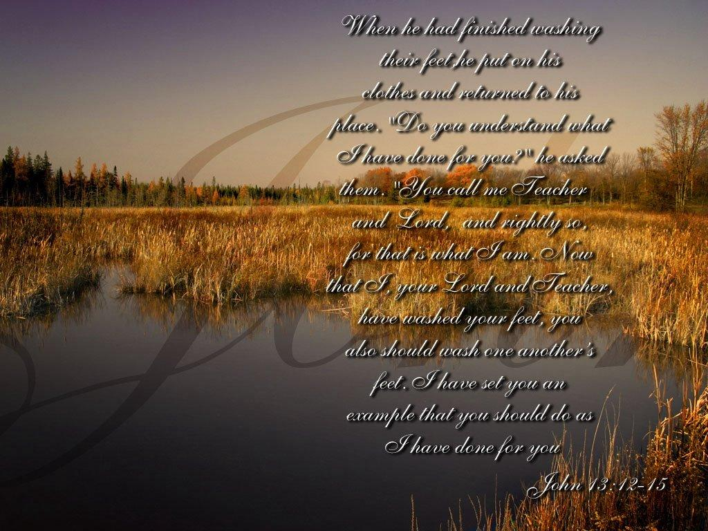 John 13:12-15 – Teacher And Lord christian wallpaper free download. Use on PC, Mac, Android, iPhone or any device you like.