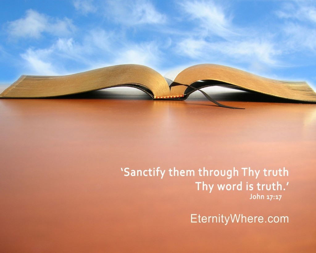 John 17:17 – Thy Word is Truth christian wallpaper free download. Use on PC, Mac, Android, iPhone or any device you like.