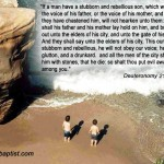 Deuteronomy 21:18-21 – Stubborn and Rebellious Son Wallpaper Christian Background