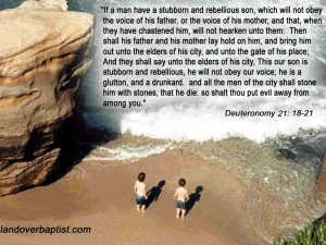 Deuteronomy 21:18-21 – Stubborn and Rebellious Son Wallpaper