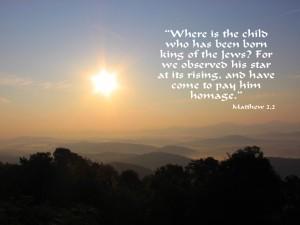 Matthew 2:2 – King of the Jews Wallpaper