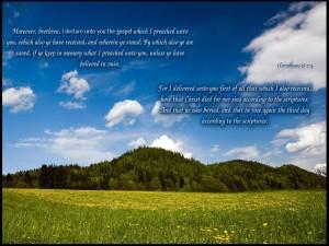 1 Corinthians 15:1-4 – Christ Died For Our Sins Wallpaper