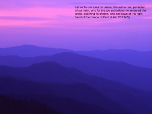 Hebrews 12:2 – Throne of God Wallpaper