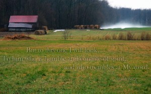 Isaiah 66:2 – Humble and Contrite in Spirit Wallpaper