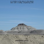Proverbs 21:19 – Living in Dessert Wallpaper Christian Background