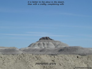 Proverbs 21:19 – Living in Dessert Wallpaper