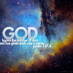 Psalm 147:4 – Heavenly Father Wallpaper Christian Background