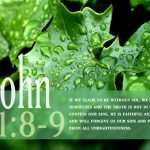 1 john 1:8-9 – Confess Our Sins Wallpaper Christian Background