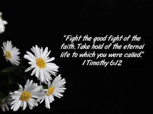1 Timothy 6:12 – Eternal Life Wallpaper