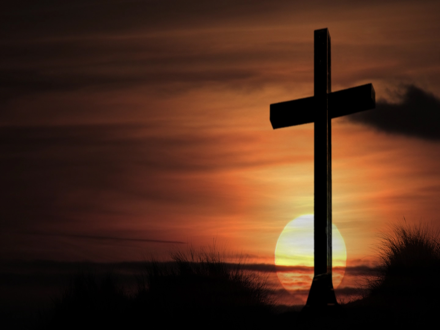 Christian photography cross on sunset papel de parede imagem