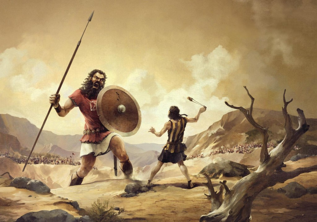 Bible Tale: David vs. Goliath christian wallpaper free download. Use on PC, Mac, Android, iPhone or any device you like.
