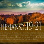 Ephesians 5:19-21 – Speaking to One Another Wallpaper Christian Background