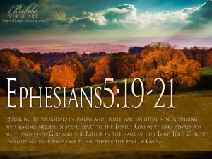 Ephesians 5:19-21 – Speaking to One Another Papel de Parede Imagem