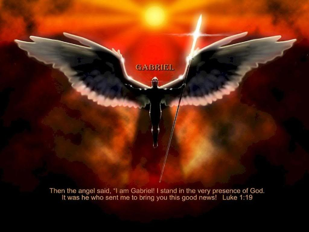 Luke 1:19 – Angel Gabriel christian wallpaper free download. Use on PC, Mac, Android, iPhone or any device you like.
