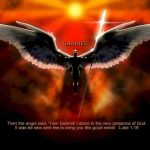 Luke 1:19 – Angel Gabriel Wallpaper Christian Background