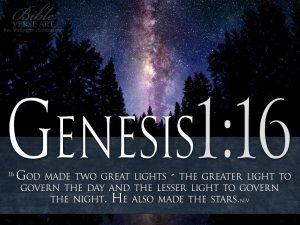 Genesis 1:16 – Two Great Lights Wallpaper