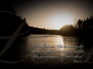 Genesis 1:9 – Lands and Seas Wallpaper