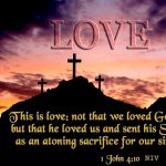 1 John 4:10 – Love of God Wallpaper Christian Background