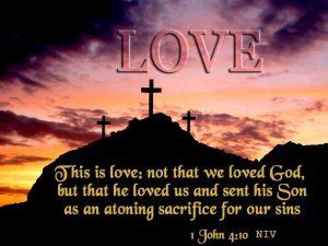 1 John 4:10 – Love of God Wallpaper