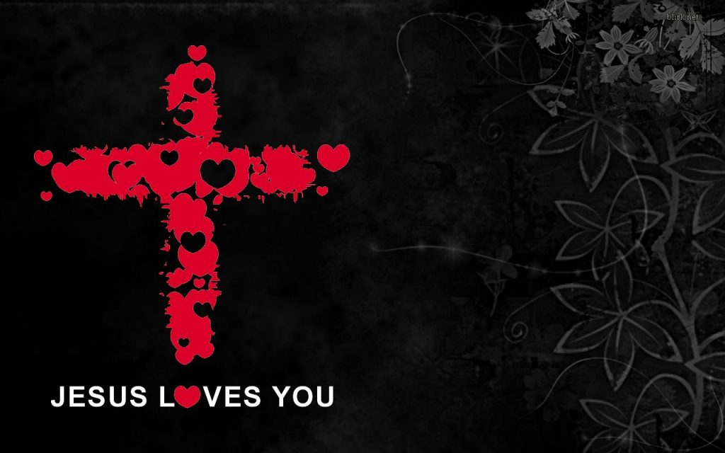 Christian Graphic: Jesus Loves You christian wallpaper free download. Use on PC, Mac, Android, iPhone or any device you like.