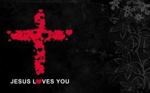 Christian Graphic: Jesus Loves You Wallpaper