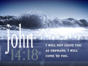 John 14:18 – Will Not Leave Wallpaper