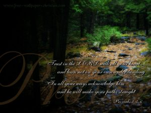 Proverbs 3:5-6 – Trust in the Lord Wallpaper