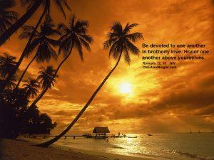 Romans 12:10 – Devoted in Love Wallpaper