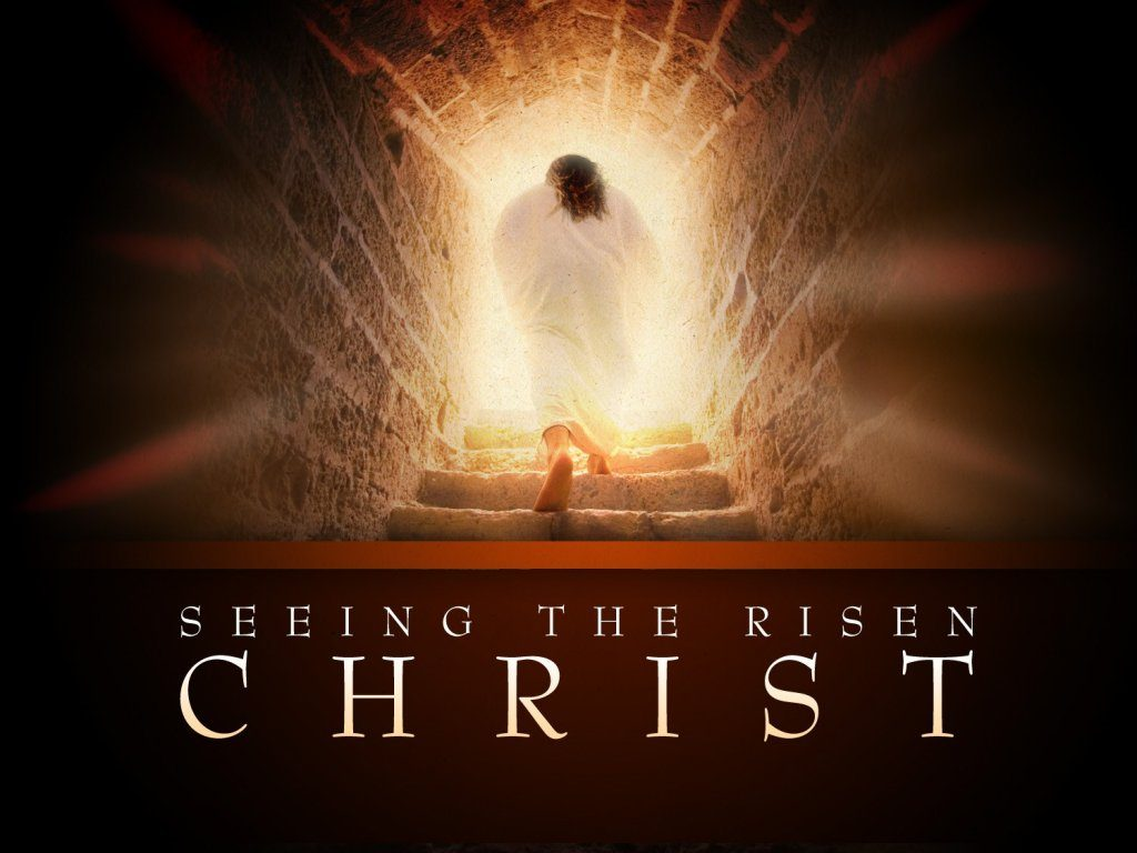 Christian Graphic: Seeing The Risen Christ christian wallpaper free download. Use on PC, Mac, Android, iPhone or any device you like.