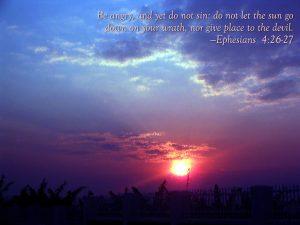 Ephesians 4:26-27 – In Your Anger Do Not Sin Wallpaper