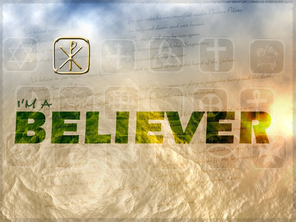 Christian Graphic: Believer christian wallpaper free download. Use on PC, Mac, Android, iPhone or any device you like.
