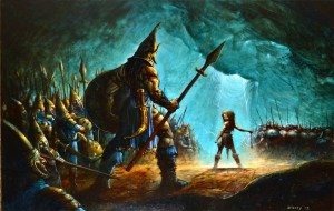 David And Goliath Wallpaper