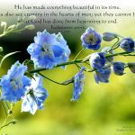 Ecclesiastes 3:11-12 -Creator of Everything Beautiful Wallpaper Christian Background