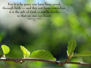 Ephesians 2:8-9 – By Grace You Have Been Saved Wallpaper
