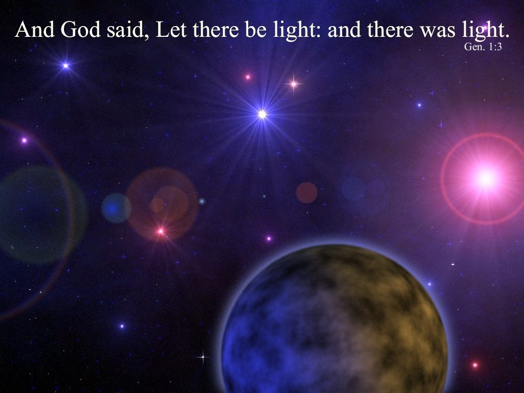 Genesis 1:3 – Light of the World christian wallpaper free download. Use on PC, Mac, Android, iPhone or any device you like.