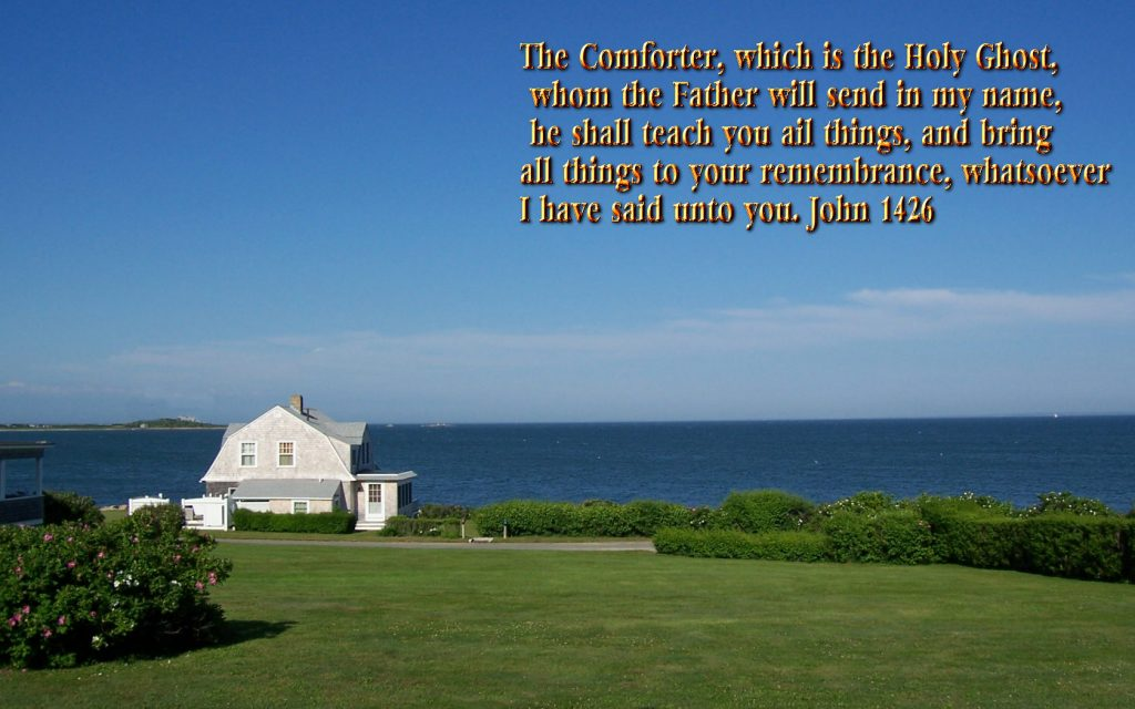 John 14:26 – The Holy Spirit christian wallpaper free download. Use on PC, Mac, Android, iPhone or any device you like.