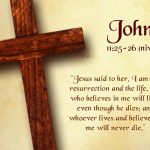 Bible Verse: John 11:25-26 Wallpaper Christian Background