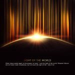 John 8:12 – Light of the World Wallpaper Christian Background